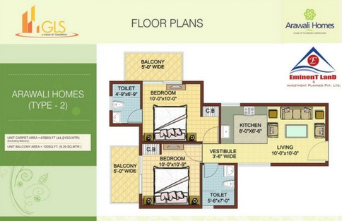 GLS Arawali Homes Sector-4 South of Gurgaon Floor Plan