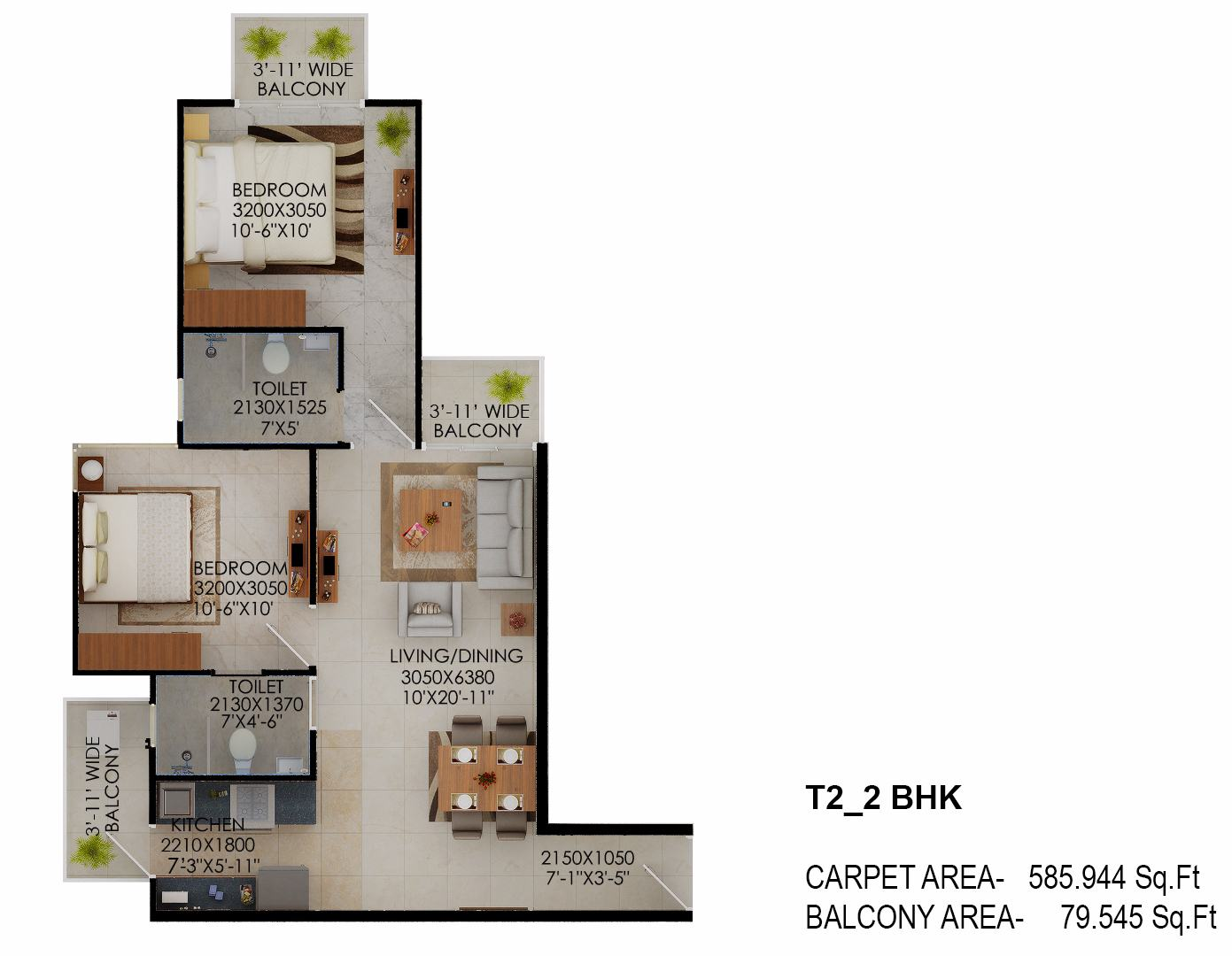 Tower 2 Signature millennia floor plan