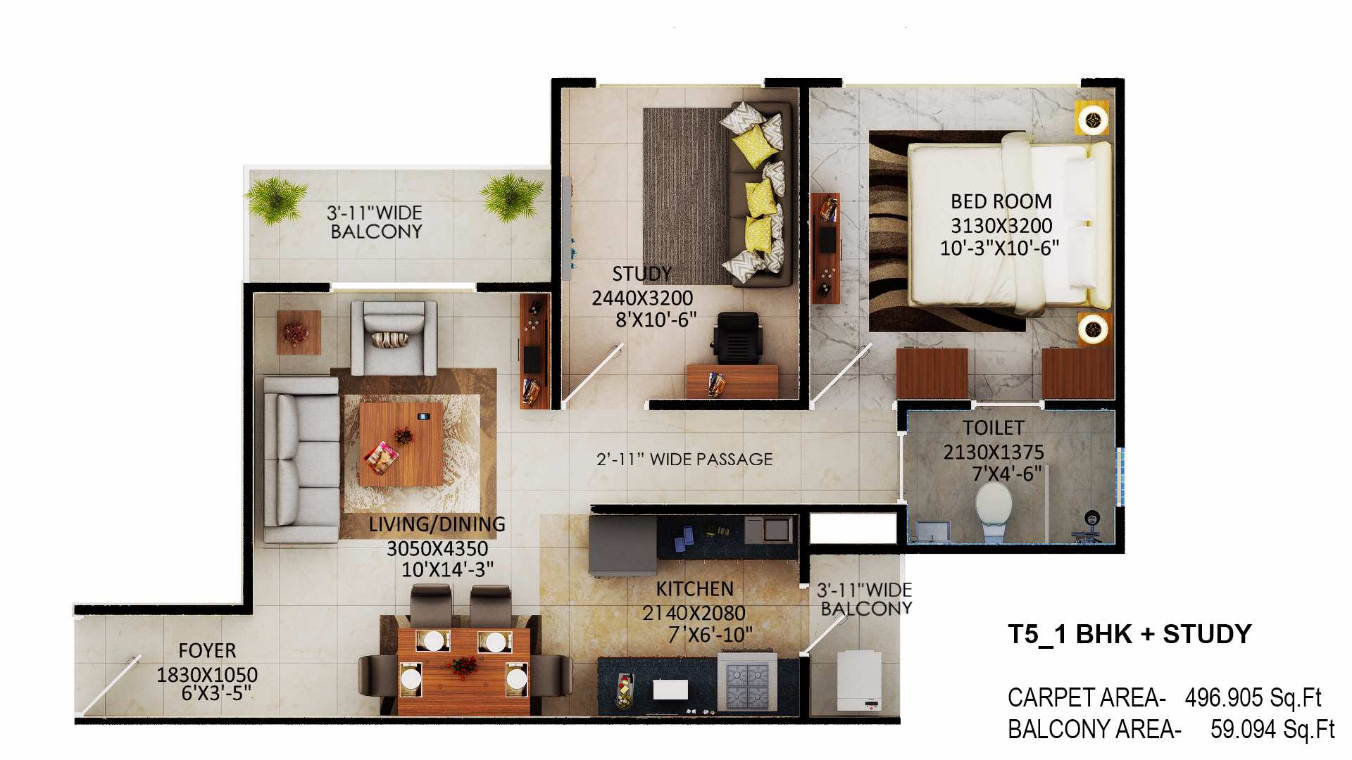 tower 5 signature global millennia floor plan