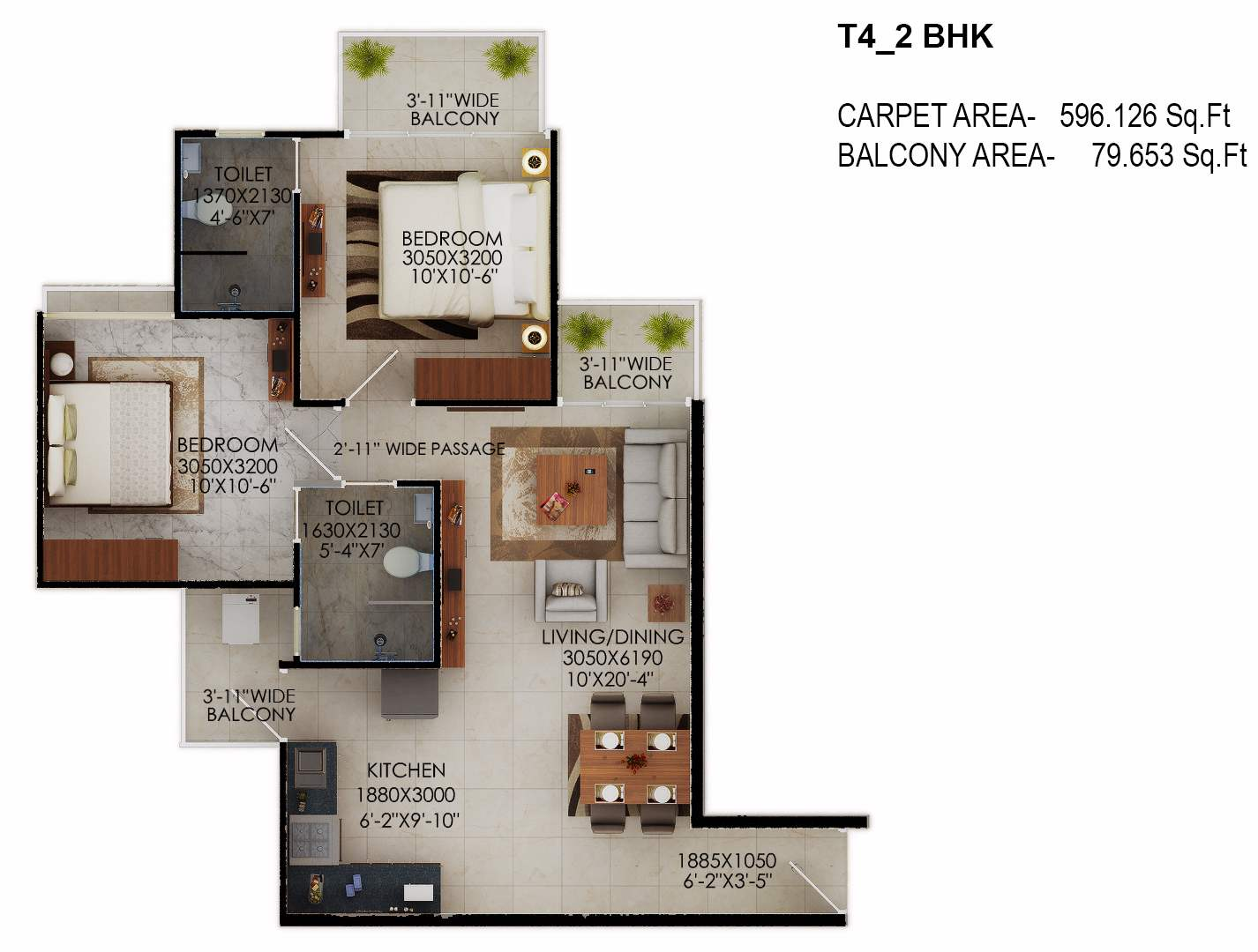 tower 4 signature millennia floor plan