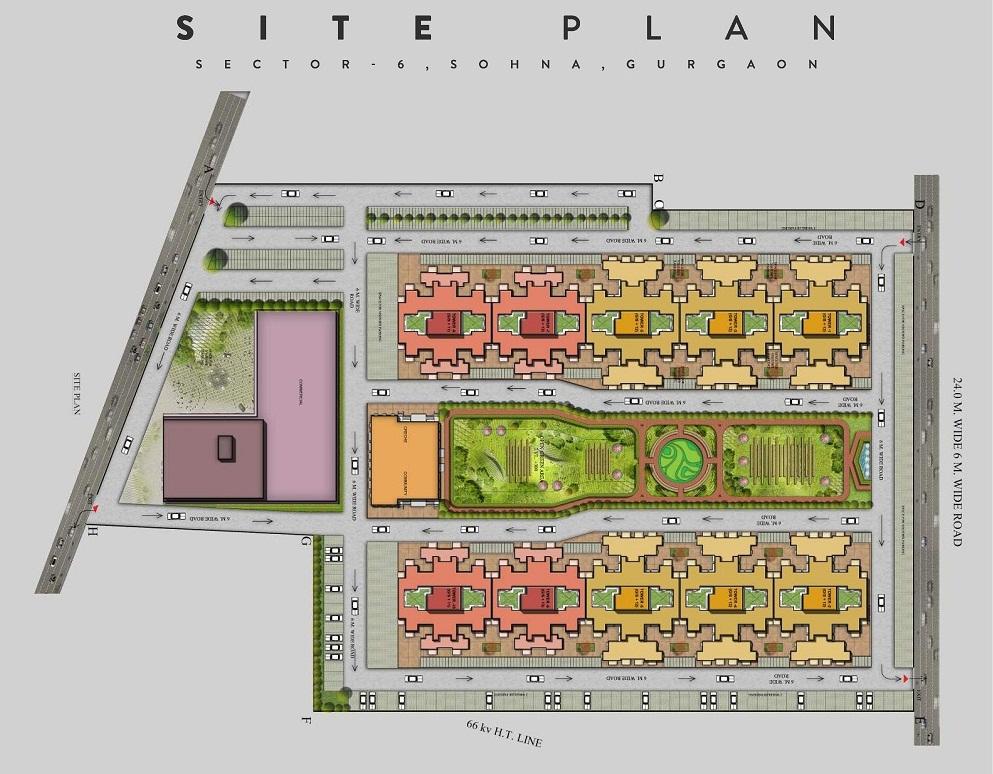 Arete Site plan for Sohna
